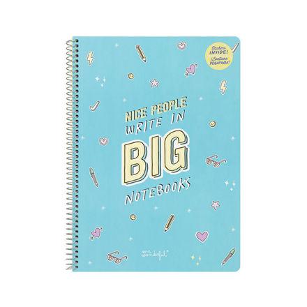 """Imagem de Caderno Grande """"Nice People Write in Big Notebooks"""""""