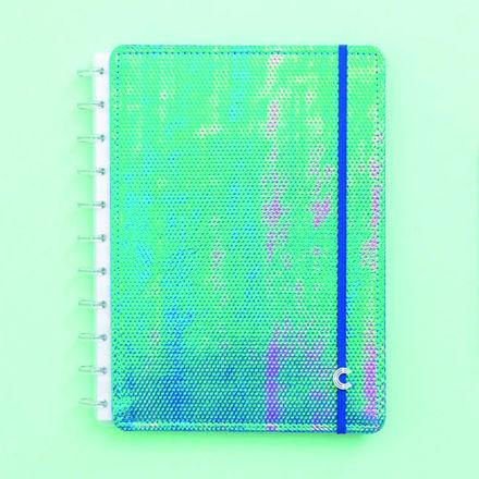 Imagem de Caderno Azul Holográfico - Grande