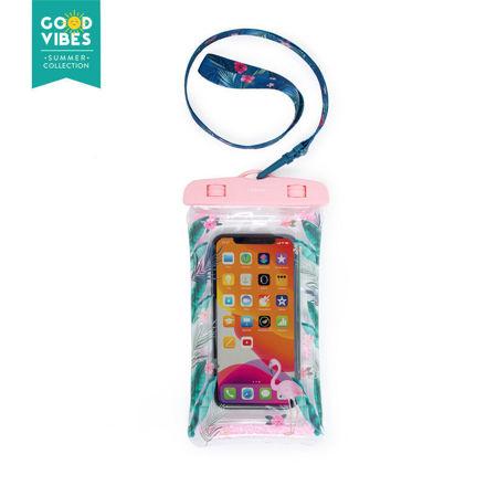 Imagem de Bolsa Impermeável para smartphone - Tropical com Glitter