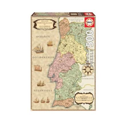 "Imagem de Puzzle Educa 500 Pcs ""Mapa histórico de Portugal"""