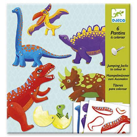 Imagem de Bonecos para colorir - Dinossauros