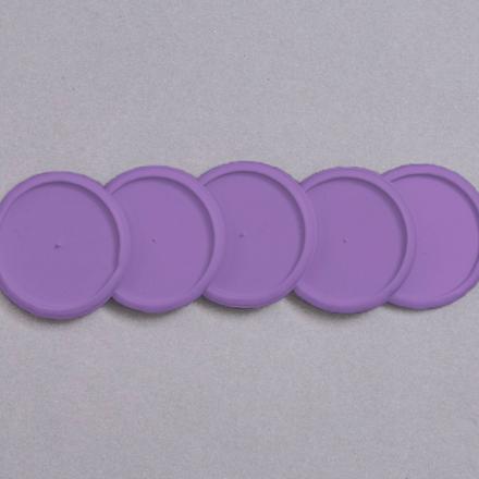Imagem de Discos e elástico G roxo dos pampas